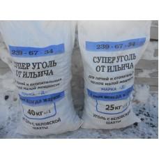 """Уголь каменный (с пылью 10-15%) фр. """"ОРЕХ"""" 40кг (г.Белово)"""
